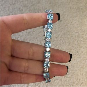 White and Blue Crystal Bracelet